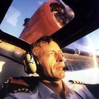 Paul at the controls of his much loved Catalina