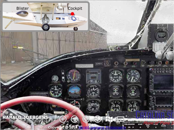 3D Panoramic Cockpit View of G-PBYA