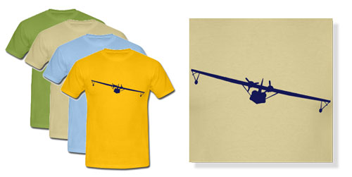 PBY Catalina Silhouette T-shirts for Men & Women