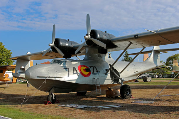 The former Canadian PBY-5A at the Museo del Aire, Cuatro Vientos, Madrid, newly repainted as Spanish Air Force 'DR.1-1/74-21' Photo: Rene Klok